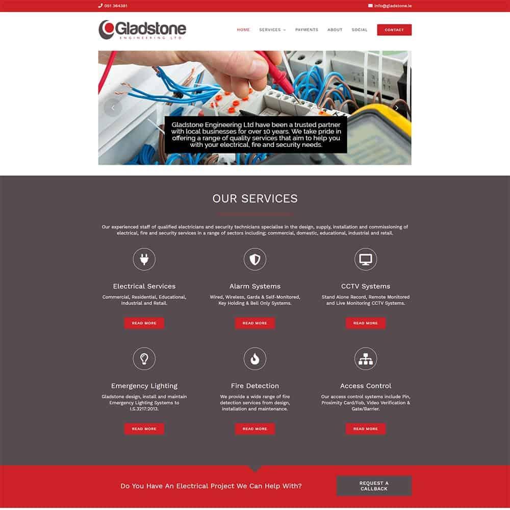 Gladstone Engineering Ltd - Istech Web Design