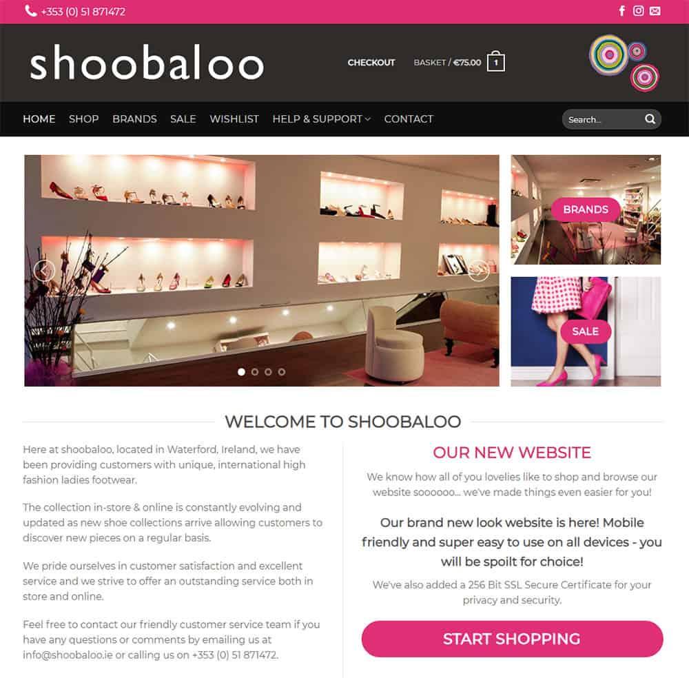 shoobaloo eCommerce Website Launched